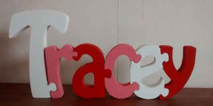 puzzle letter wooden name plaques/kids/toddlersname plaques/PRICE IS PER LETTER
